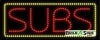 subs red food and beverage led neon signs
