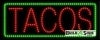 tacos red food and beverage led neon signs