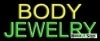 body jewlry business budget neon signs