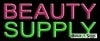 beauty supply business budget neon signs