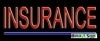 insurance business budget neon signs