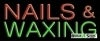 nails waxing business budget neon signs