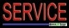 red service business budget neon signs