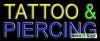 tattoo and piercing yellow and blue business budget neon signs