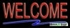 welcome open budget neon signs