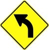 left curve stock traffic signs