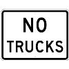 black no trucks stock traffic signs