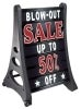 quick load message board with wheel deluxe black sandwich and sidewalk signs