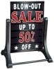 swinger deluxe message board black sandwich and sidewalk signs
