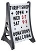 quick load message board with wheels sandwich and sidewalk signs