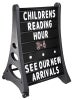quick load message board with wheels black sandwich and sidewalk signs