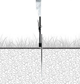 Feather Flag Inground Outdoor Stake Base Only No Pole