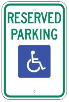 Reserved Parking With Handicap Logo 12 Quot X18 Quot 080 Hip