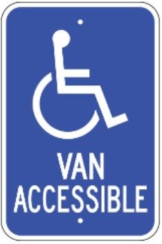 van accessible with handicap logo 12 x18 080 egp blue white