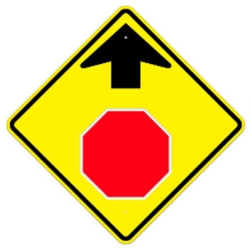 Stop Sign Ahead 30 Quot Diamond 080 Hip Yellow Black