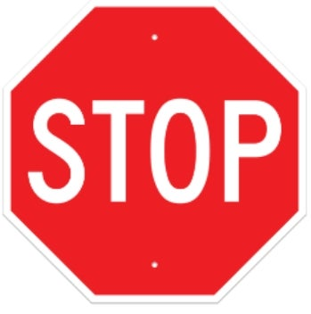 Stop Sign 30 Quot Octagon 063 Red White Buildasign Com