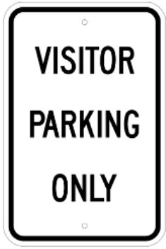 Visitor Parking Only 12 Quot X18 Quot 080 Egp White Black