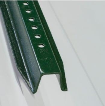 3' Green U channel post