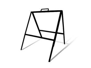 18  x 24  Slide-In Tent Frame (Black)  sc 1 st  BuildASign.com & 18