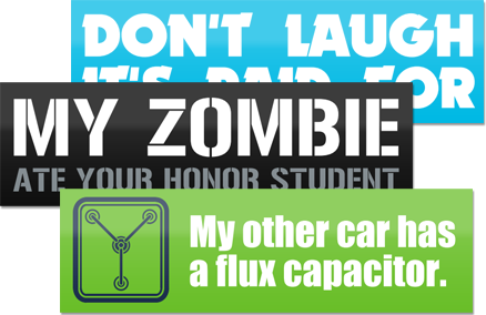 Custom bumper stickers 15 off free shipping