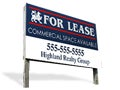 For Rent/Lease Plywood Signs