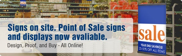 Retail Displays and Point of Sale Signs